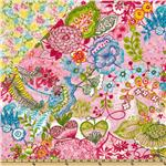 Pretty In Pink Double Sided Quilted Floral Collage Pink