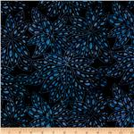 Tonga Batik Painted Lady Pepperpuss Flower Jazz Blue