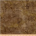 0262522 Tonga Batik Coastal Butterfly Forest Driftwood Brown