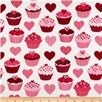 0260483 Confections Cupcakes & Hearts White