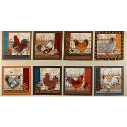 Prized Poultry Patchwork Chickens Country Brown