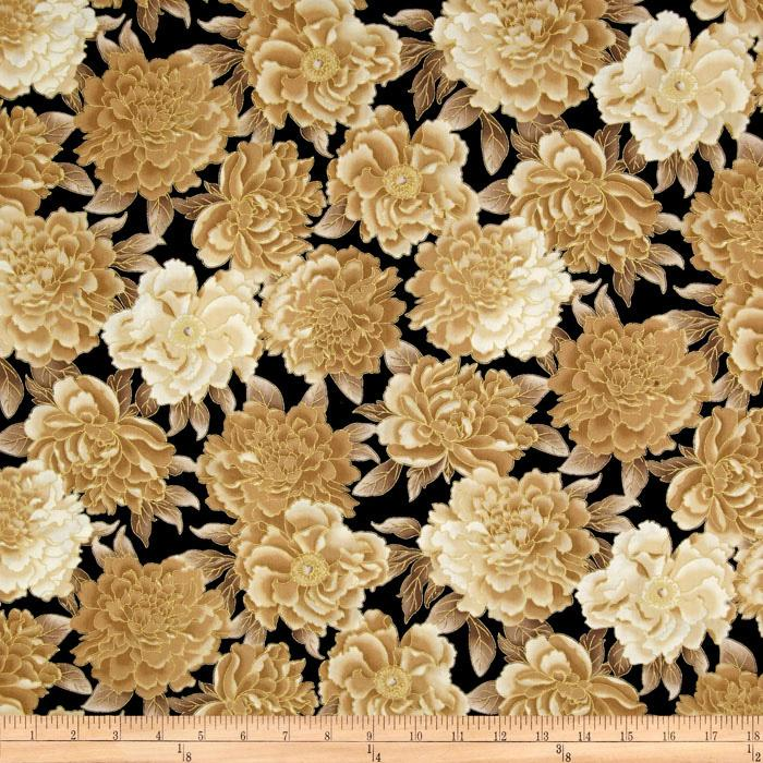 Autumn Plume Floral Jet Black