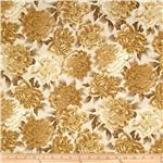 0260046 Autumn Plume Floral Sand Beige
