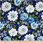 Tea Garden Sateen Home Dcor Ying Ming Navy