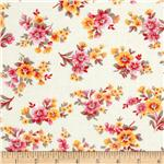 0261003 Spring Ahead Red Floral on White