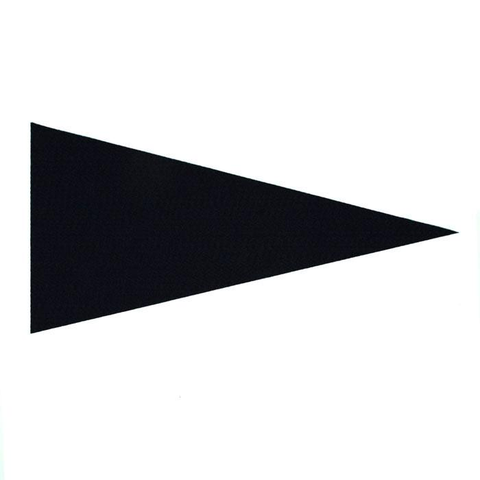 Varsity Pennant Felt Craft Cut Black