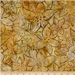 0260264 Artisan Batik: Splendid 2 Flowers Ochre