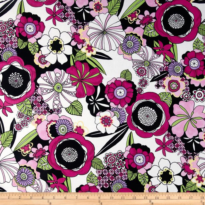 Trippy Dippie Floral Fuchsia