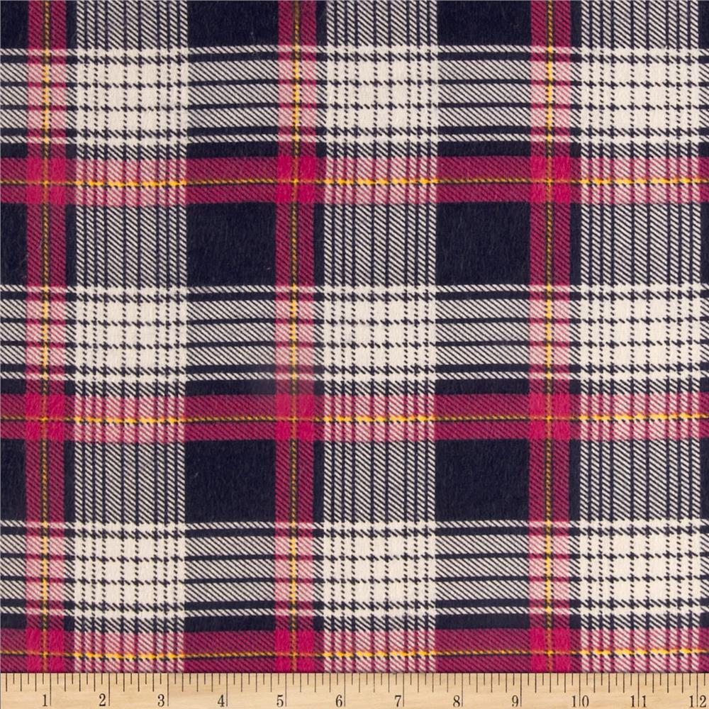 Plaid Flannel Navy/Pink