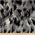Faux Fur Fancy Feather Black/White