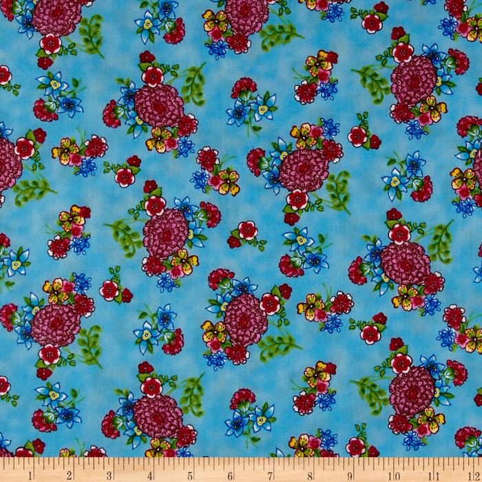 Pretty In Pink Floral Blue 