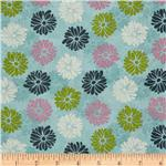 0260897 Eden&#39;s Dream Medium Floral Teal