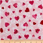 0260301 Love Flourished Hearts Pink