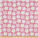 0260915 Baby Birds Patterned Flower Pink