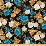 0260573 Victorian Dream Roses Black