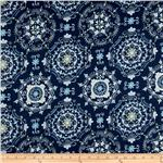 0261291 Tea Garden Sateen Home Décor Dream Right Navy
