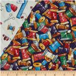 0260221 Quilting Bee Double Sided Quilted Spools Of Thread Multi