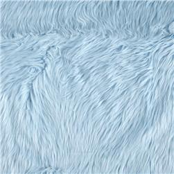 Faux Fur Luxury Shag Baby Blue