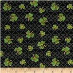 0260672 Luck Of The Irish Small Shamrocks Black