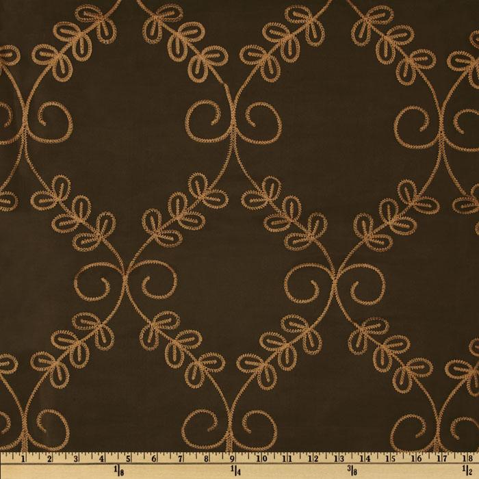Embroidered Legacy Scroll Drapery Sheers Natural