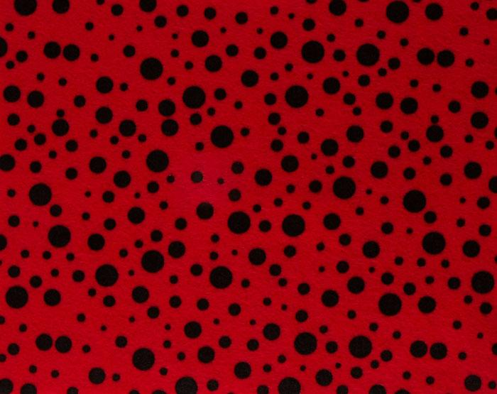 Fanci Felt 9 x 12&quot; Craft Cut Random Dots Red