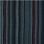0264972 Yarn Dyed Flannel Striped Black/Teal/Turquoise