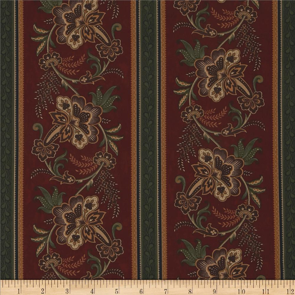 Moda Pheasant Hill Pheasant Row Stripe Turkey Red