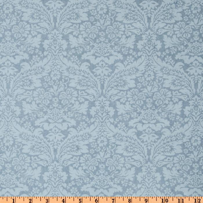Treasures by Shabby Chic Wildflowers Tonal Damask Blue