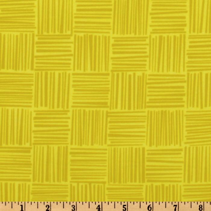 Greenhouse Flannel Basket Weave Citron