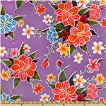 UH-135 Oil Cloth Hibiscus Purple