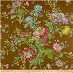 0268756 Olivia Collection Iris Floral Brown