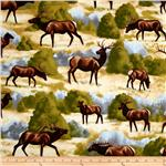 217571 Timeless Treasures Elk Natural
