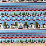 Polar Pals Flannel Repeating Stripe Blue