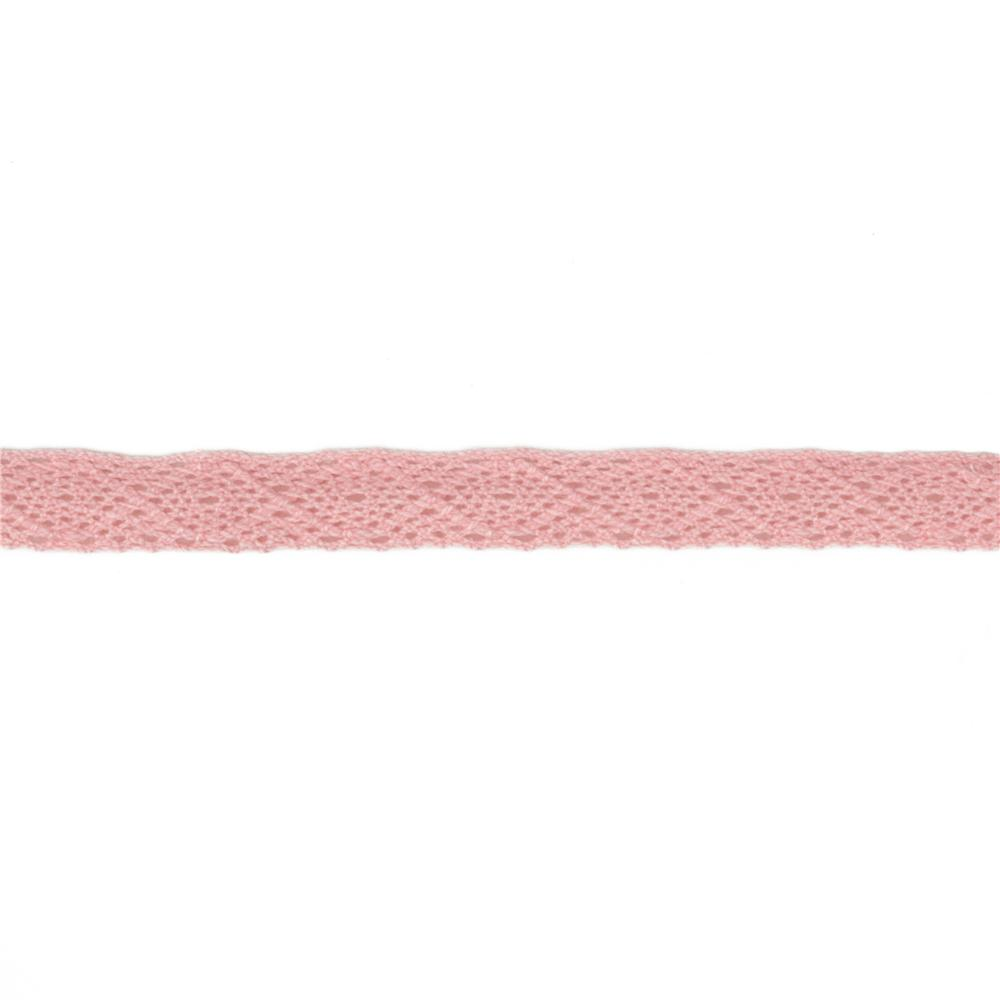 1/2'' Crochet Lace Ribbon Pink