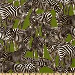 219180 Living Wonders Zebras Green/Black