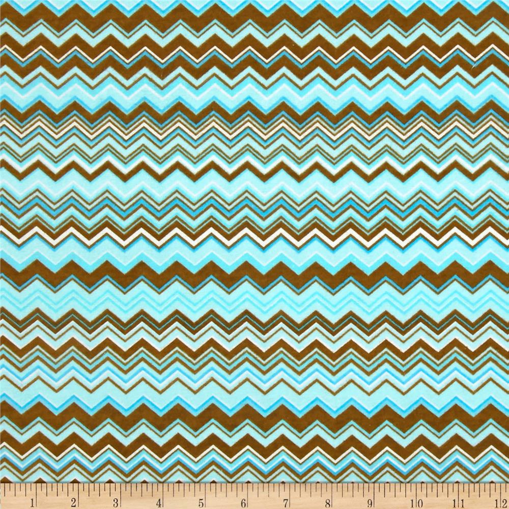 Chevron Flannel Blue/Brown