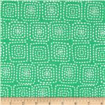 Michael Miller Stitch Floral Square Mint