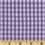 FJ-837 Seersucker Small Check Purple