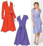 KP-3489 Kwik Sew Misses Fitted Knit Wrap Dresses Pattern