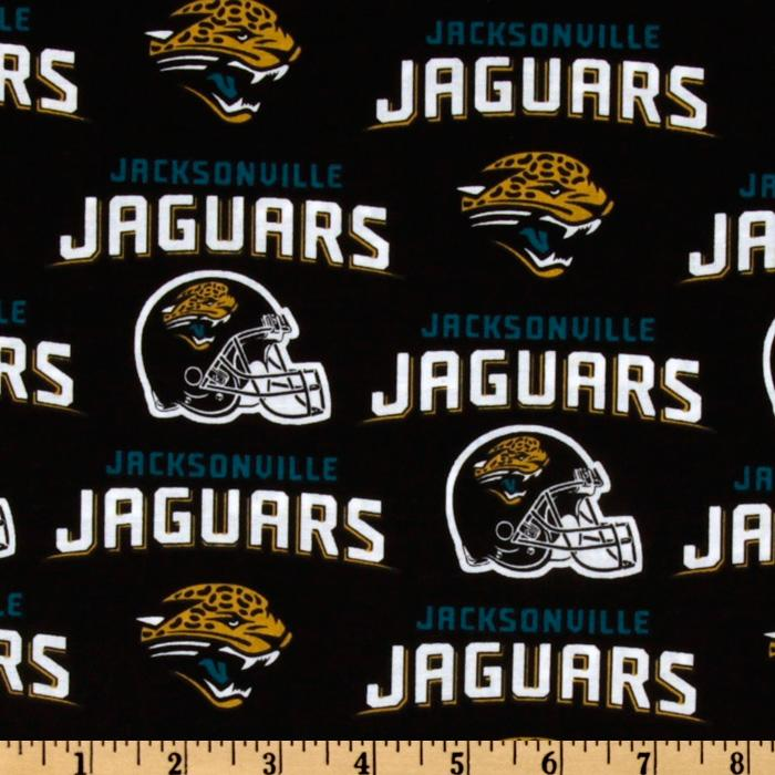 NFL Cotton Broadcloth Jacksonville Jaguars Black