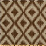 Robert Allen Woven Jacquard Ikat Fret Bronze
