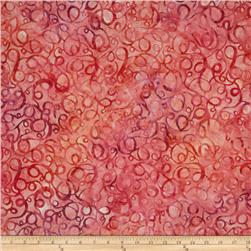 Artisan Batiks: Elementals Geos 4 Swirls Strawberry