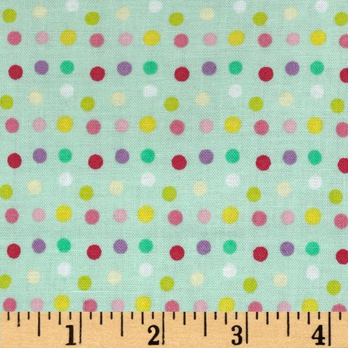 Little Lamb Dots Sea Green