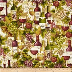 Vineyard Wine Bottles Merlot