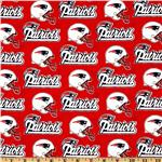 CK-222 NFL Cotton Broadcloth New England Patriots Red/White