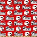 NFL Cotton Broadcloth New England Patriots Red/White