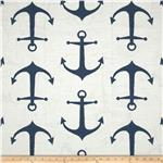 0297645 Premier Prints Anchor Slub Navy