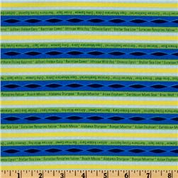 Circle Of Life Stripes Green/Blue/Yellow