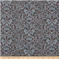 Ooh La-La Damask Brown/Blue
