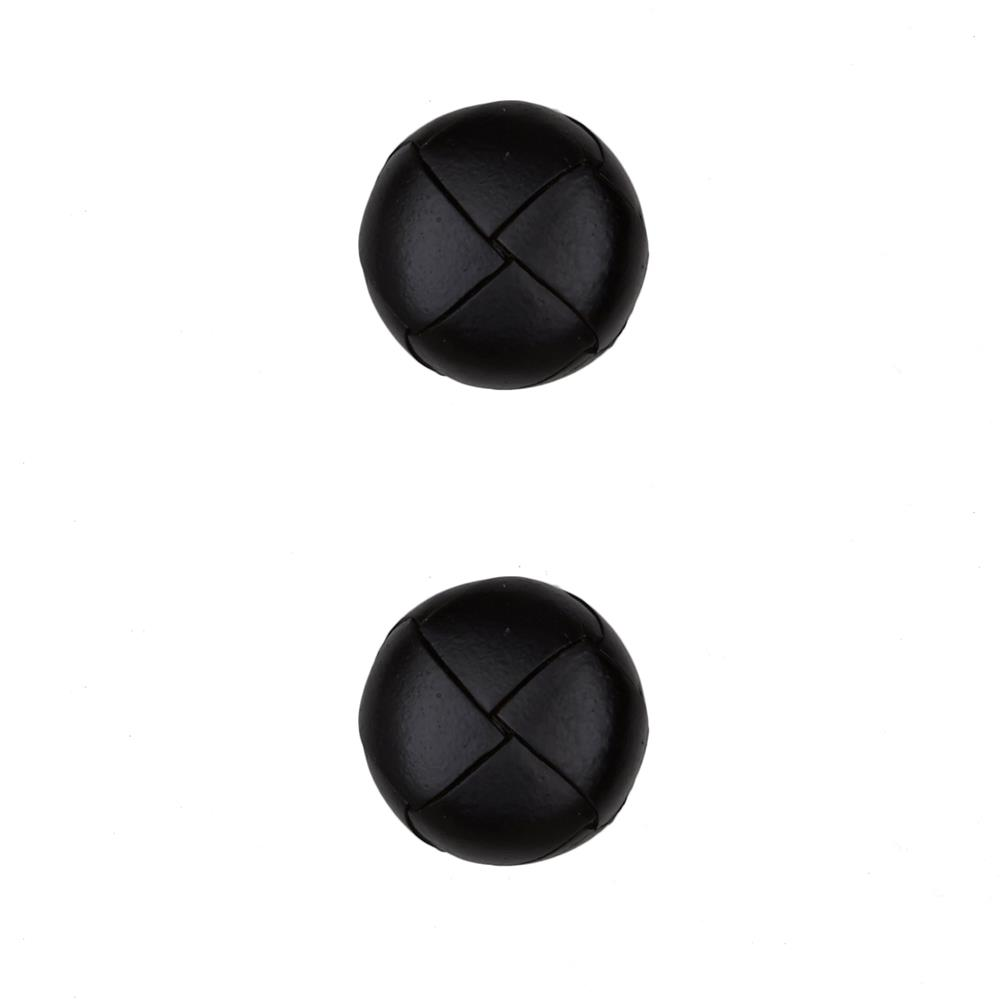 "Dill Buttons 3/4"" Genuine Black Leather Button"